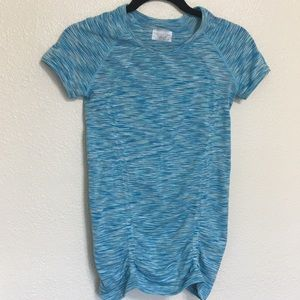 Athleta Fastest Track Ruched Short Sleeve Top Sz S